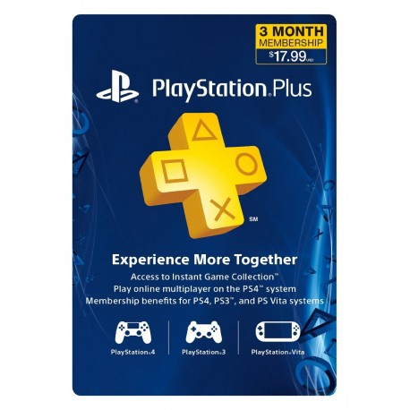 3Month Playstation Plus Membership