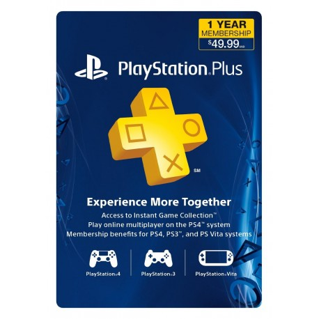 12Month Playstation Plus Membership