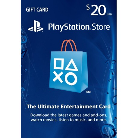 20$PlayStation Store Gift Card