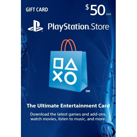 50$PlayStation Store Gift Card