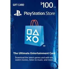 100$PlayStation Store Gift Card