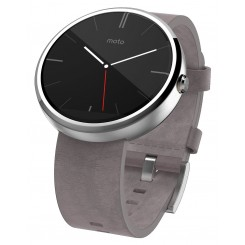 Moto 360 Leather Gray