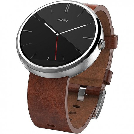 Moto 360 Leather Brown