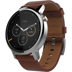 Motorola Moto 360 2th Gen Brown Leather
